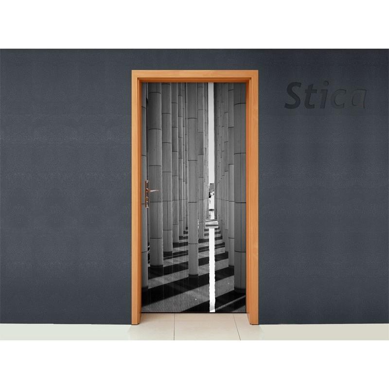 Vinilo columnas para puerta - Puertas con vinilo ...