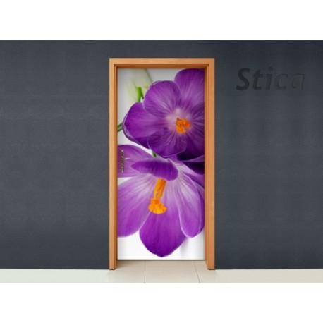Vinilo Malva flor puerta -vinilos-decorativos