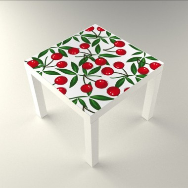 vinilo decorativo Cerezas Mesa 55 x 55