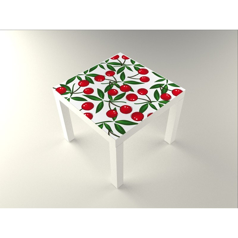 Vinilo cerezas mesa 55 x 55 for Vinilos decorativos para mesas