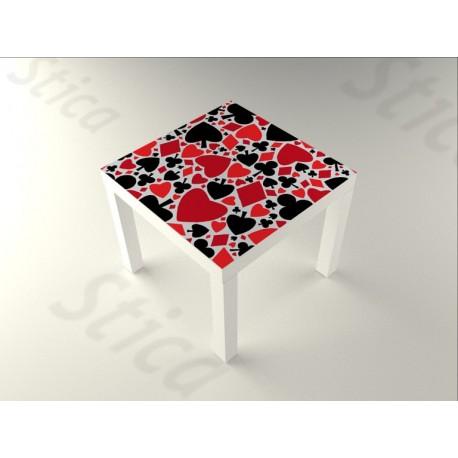 Poker Mesa 55 x 55 adhesivo decorativo ambiente