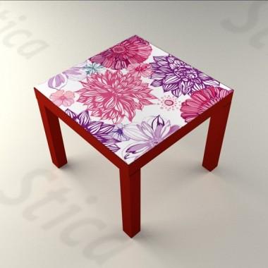 Rosa Rosae Mesa 55 x 55 adhesivo decorativo ambiente
