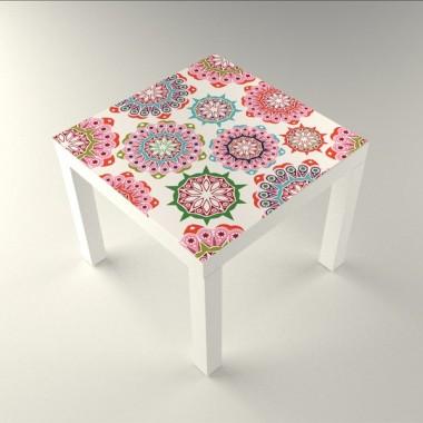 Floral Mesa 55 x 55 decoración con vinilo