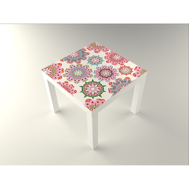 Vinilo floral mesa 55 x 55 for Adhesivos decorativos para muebles