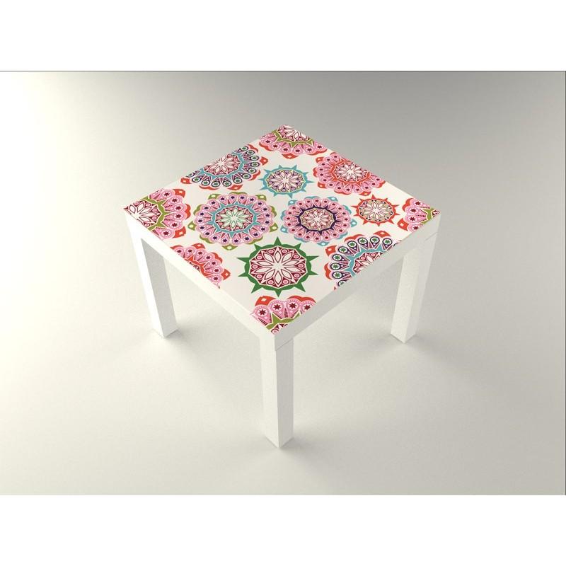 Vinilo floral mesa 55 x 55 - Papel adhesivo para muebles ikea ...