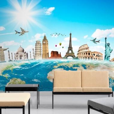 Fotomural Bon Voyage adhesivo decorativo ambiente
