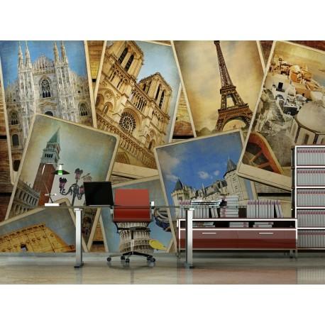 Fotomural Travel World decoración con vinilo