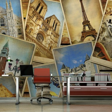 vinilo decorativo Fotomural Travel World