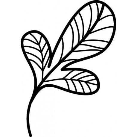 Hoja Silvestre decoración con vinilo
