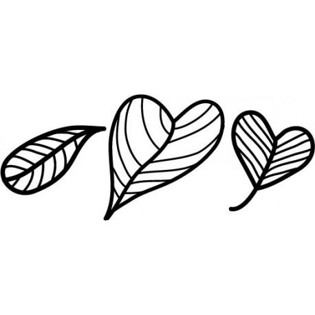 pegatina decorativa Hojas Corazón