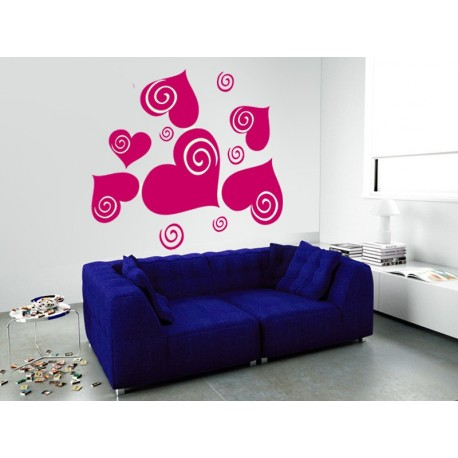 pegatina decorativa Corazón Espiral