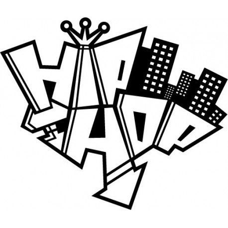 Hip Hop imagen vinilo decorativo