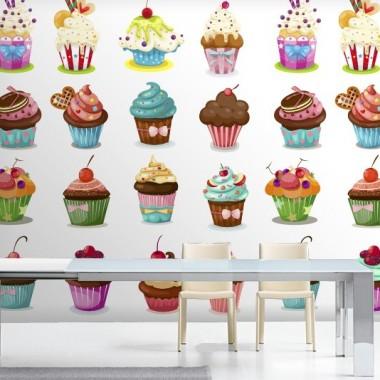 visualización fotomural Fotomural Muffins