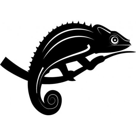 Camaleon decoración con vinilo