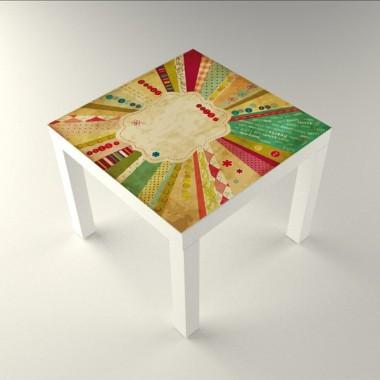 Estamp Vintage Mesa 55 x 55 decoración con vinilo