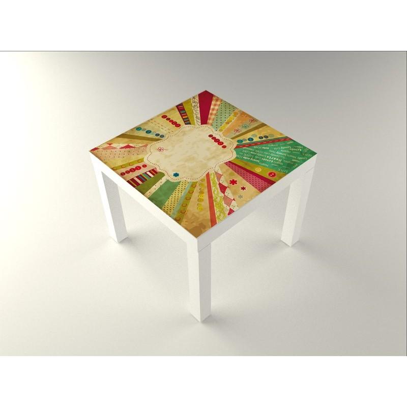 Vinilo estamp vintage mesa 55 x 55 - Vinilos para mesas ...