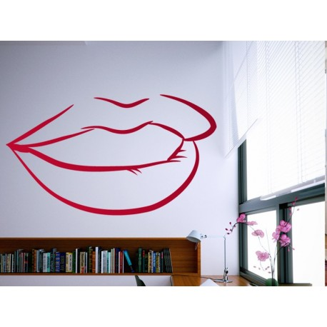 vinilo decorativo Labios Pin Up