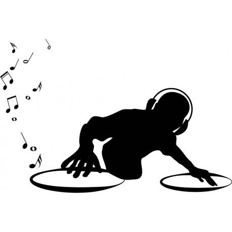 DJ con Platos decoración con vinilo