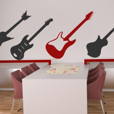 Guitarra 1 decoración con vinilo