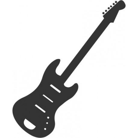 pegatina pared Guitarra 4