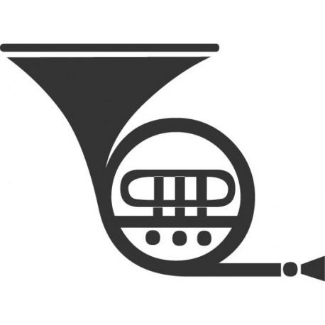 Trompeta 1 decoración con vinilo