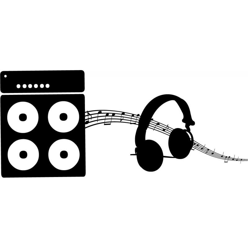 Vinilo equipo de m sica for Vinilos decorativos sobre musica