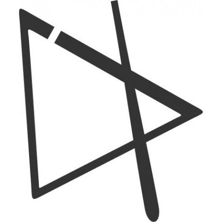 Triángulo Instrumento imagen vinilo decorativo