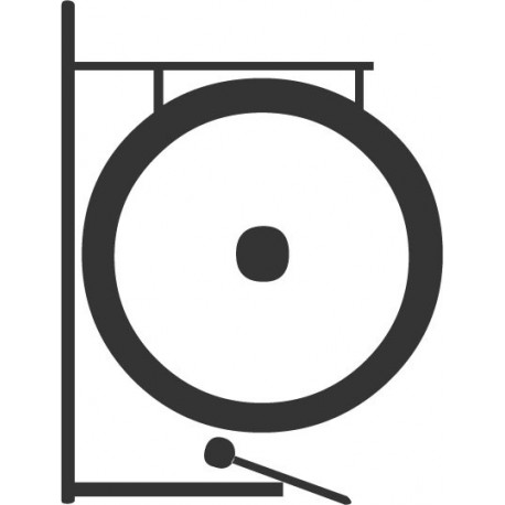 pegatina decorativa Gong Instrumento