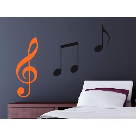 Vinilo clave de sol notas musicales for Vinilos musicales