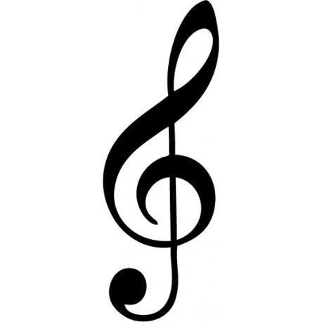 Vinilo Clave De Sol Notas Musicales