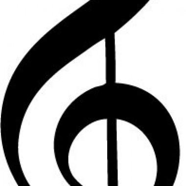 Clave de Sol Notas Musicales imagen vinilo decorativo