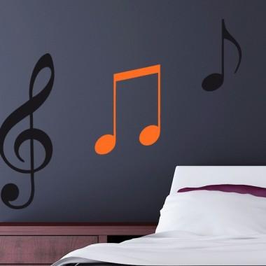 Corchea Notas Musicales decoración con vinilo