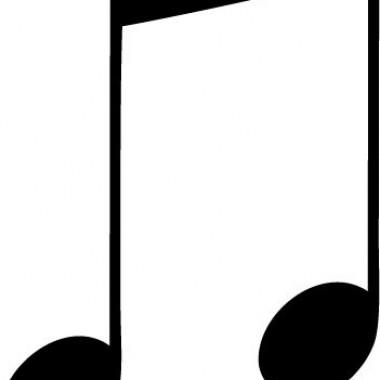 Corchea Notas Musicales adhesivo decorativo ambiente