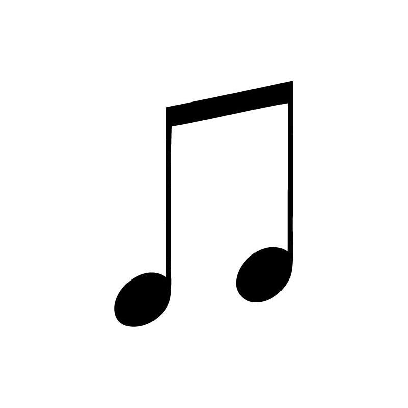 Vinilo Corchea Notas Musicales