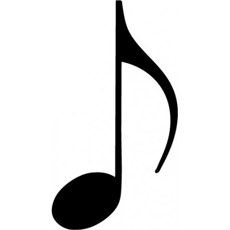 vinilo decorativo Negrita Notas Musicales