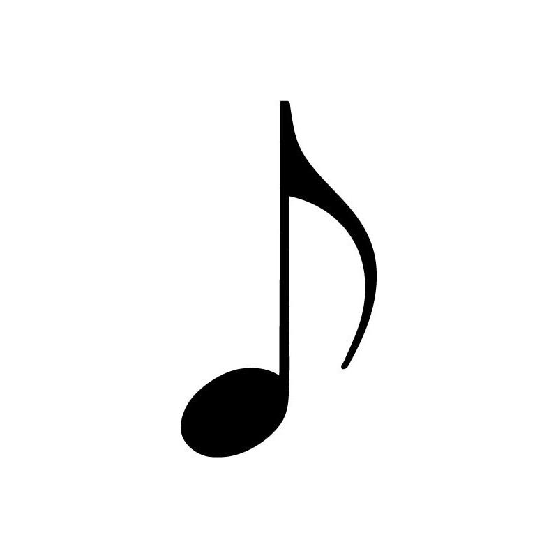 Vinilo Negrita Notas Musicales