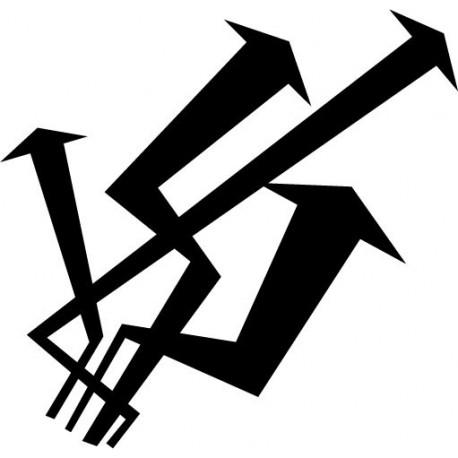 vinilo decorativo Flechas Locas