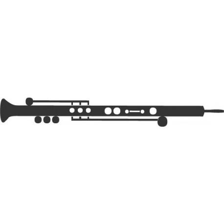 adhesivo decorativo Clarinete Instrumento