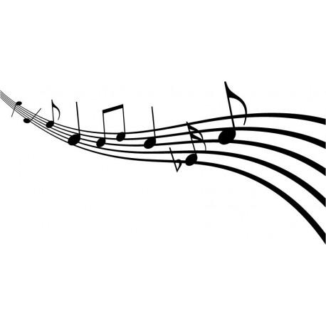 pegatina decorativa Melodía Musical
