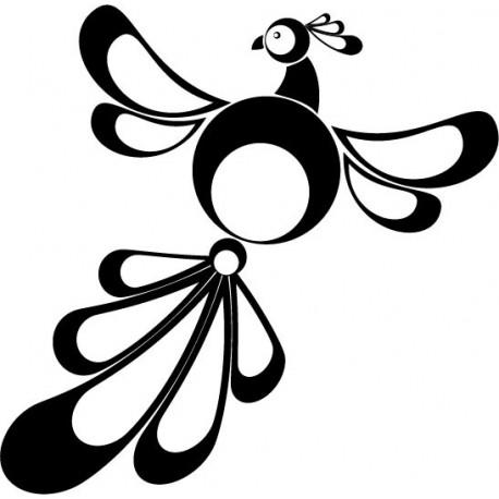 pegatina pared Pájaro Exótico