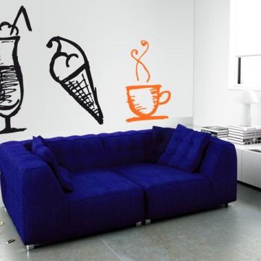 Café Coffee Time imagen vinilo decorativo