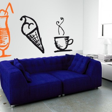 Batido Coffee Time decoración con vinilo