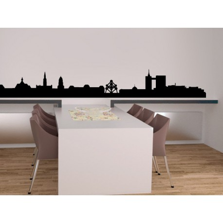 pegatina decorativa Skyline Bruselas
