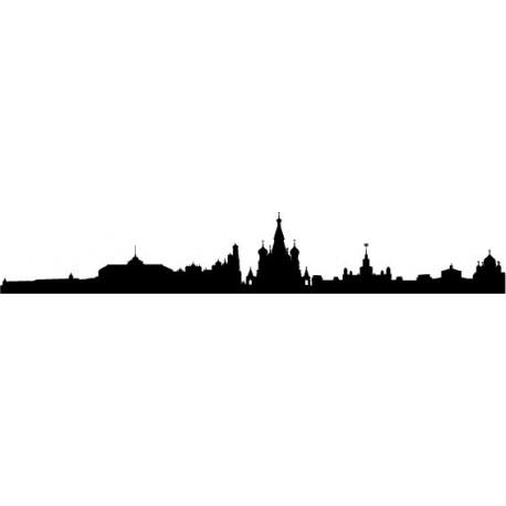 Skyline Moscu imagen vinilo decorativo