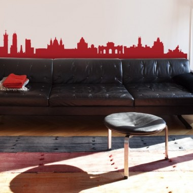 Skyline Madrid adhesivo decorativo ambiente