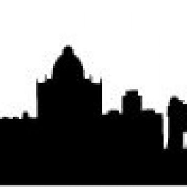 Skyline Madrid adhesivo decorativo ambiente
