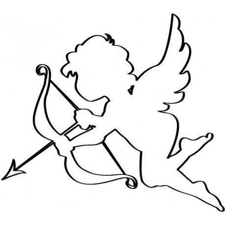 vinilo decorativo Contorno de Cupido