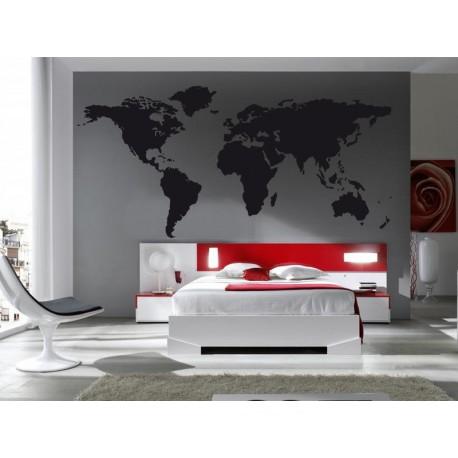 Mapa del mundo vinilos decorativos for Vinilo mapa del mundo