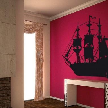 Barco Motivo I decoración con vinilo