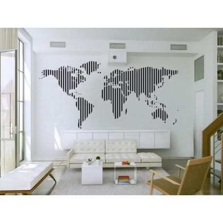 pegatina decorativa Mapa rayado